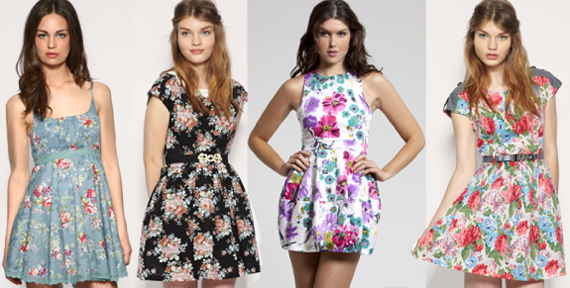 Летние платья в цветочек